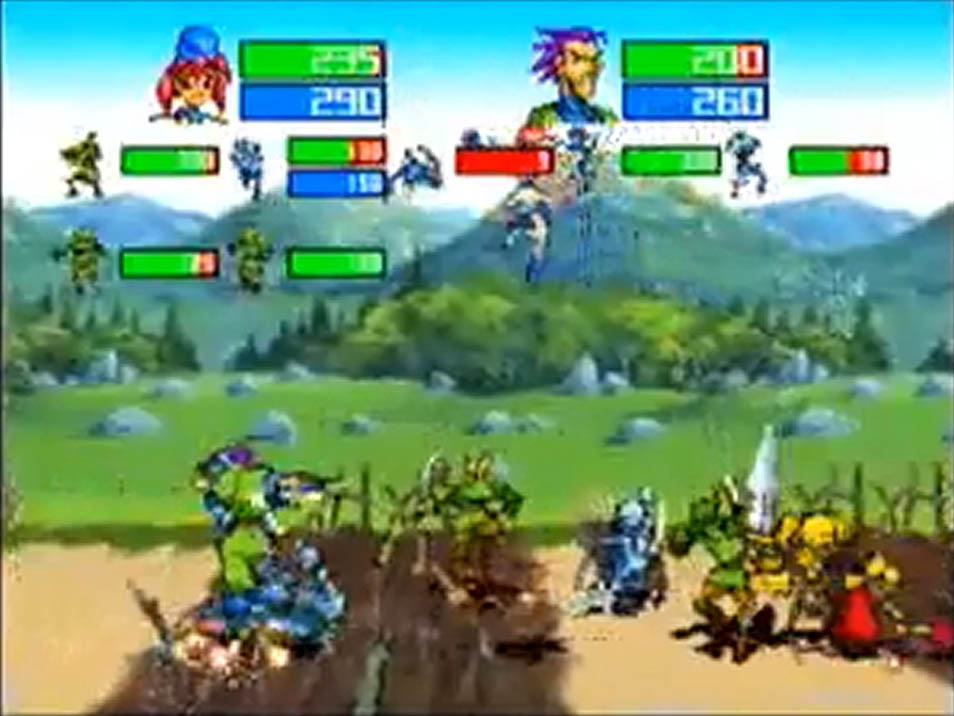 une photo d'écran de Guardian Heroes sur Sega Saturn