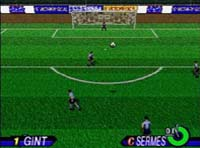 une photo d'écran de International Victory Goal sur Sega Saturn