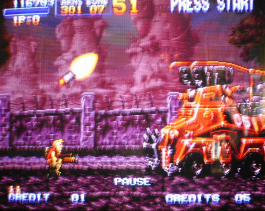 une photo d'écran de Metal Slug sur Sega Saturn