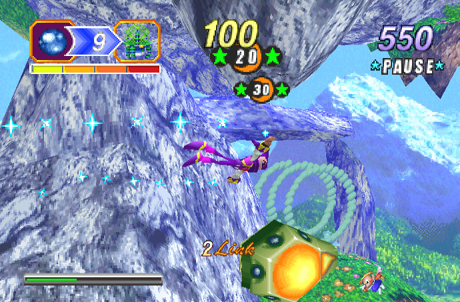 une photo d'écran de Nights Into Dreams sur Sega Saturn