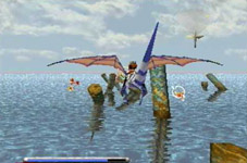 une photo d'écran de Panzer Dragoon sur Sega Saturn