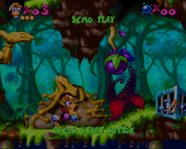 une photo d'écran de Rayman (Saturn) sur Sega Saturn