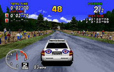 une photo d'écran de Sega Rally Championship sur Sega Saturn