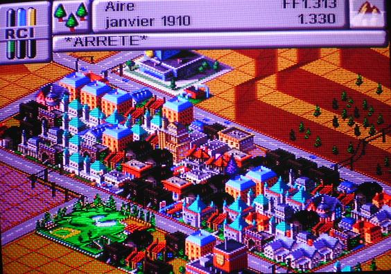 une photo d'écran de Sim City 2000 sur Sega Saturn