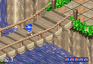 une photo d'écran de Sonic 3D - Flickies Island sur Sega Saturn