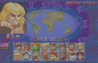 une photo d'écran de Street Fighter Collection sur Sega Saturn