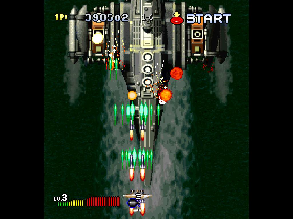 une photo d'écran de Strikers 1945 II sur Sega Saturn