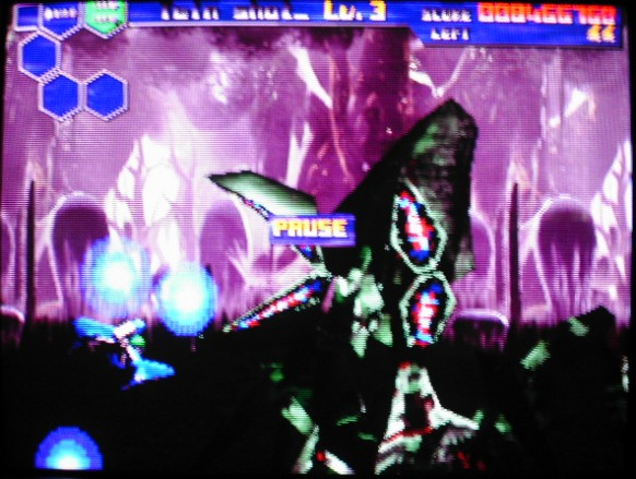 une photo d'écran de Thunder Force 5 sur Sega Saturn