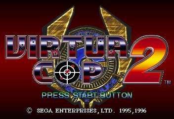 une photo d'écran de Virtua Cop 2 sur Sega Saturn