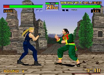 une photo d'écran de Virtua Fighter 2 sur Sega Saturn