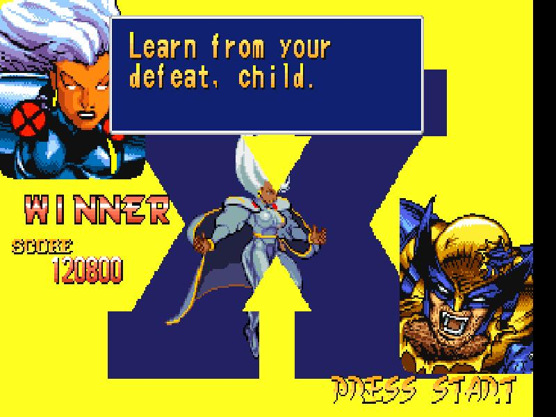 une photo d'écran de X-Men - Children of the Atom sur Sega Saturn