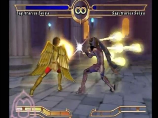 une photo d'écran de Saint Seiya - Le Sanctuaire sur Sony Playstation 2