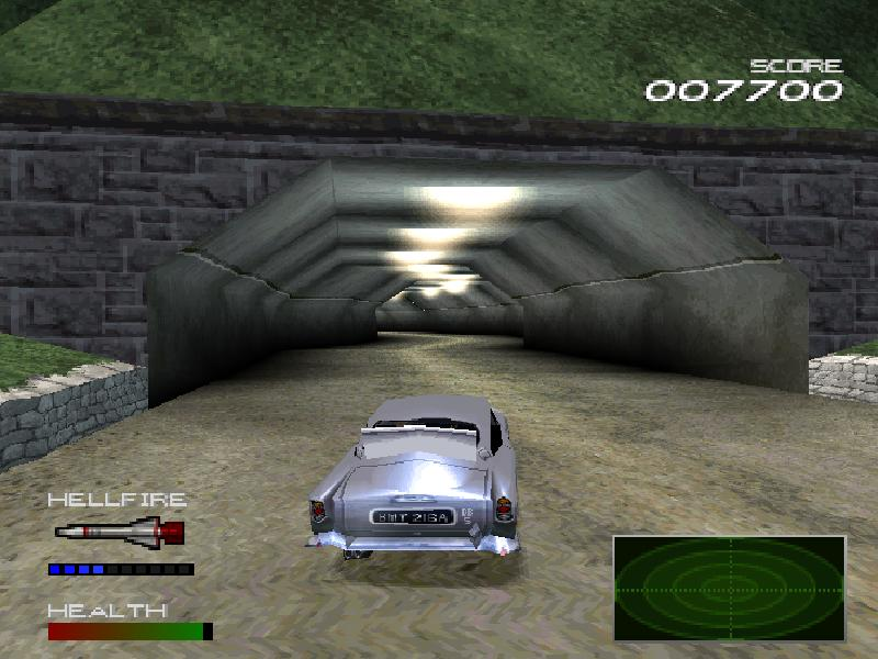 une photo d'écran de 007 Racing sur Sony Playstation