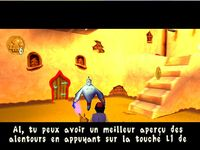 une photo d'écran de Aladdin - La Revanche de Nasira sur Sony Playstation
