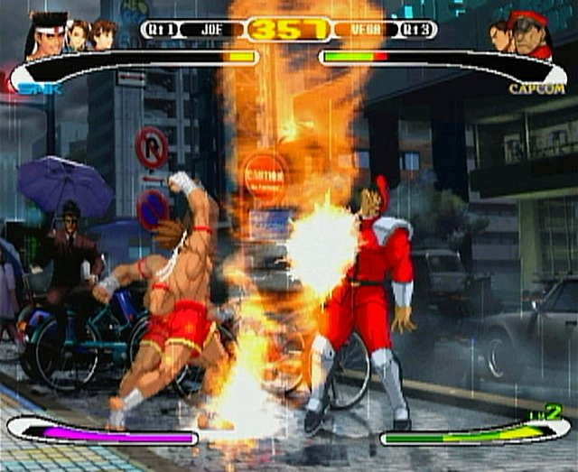 une photo d'écran de Capcom VS SNK Pro sur Sony Playstation