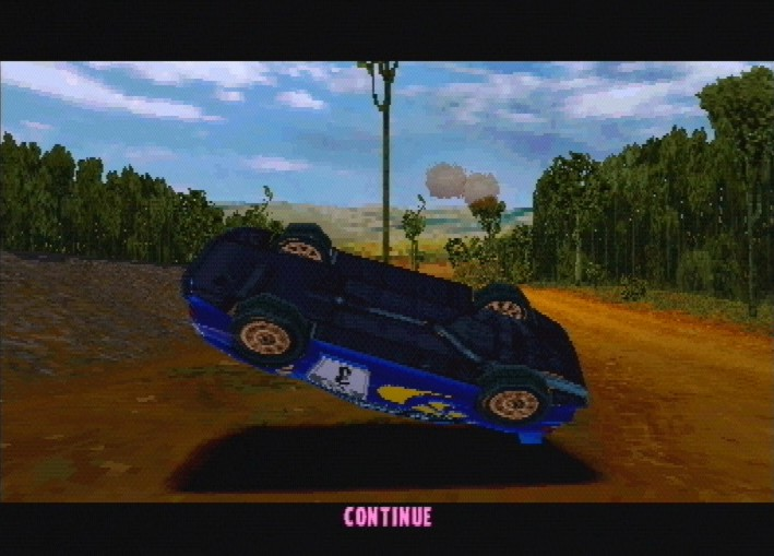 une photo d'écran de Colin McRae Rally sur Sony Playstation