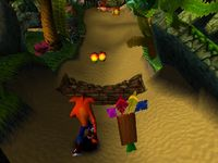 Crash Bandicoot, capture décran