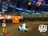 une photo d'écran de Crash Team Racing sur Sony Playstation