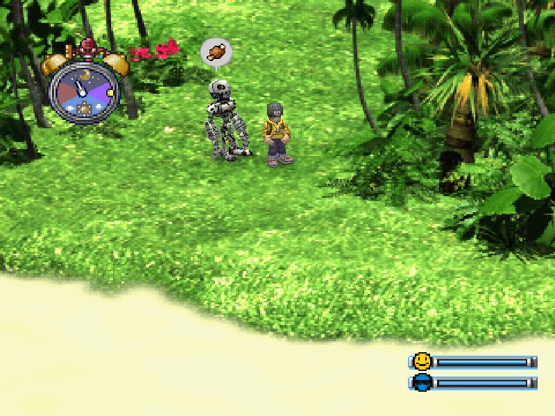 une photo d'écran de Digimon World sur Sony Playstation
