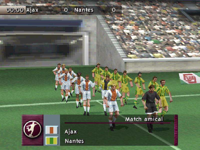 une photo d'écran de Fifa 99 sur Sony Playstation