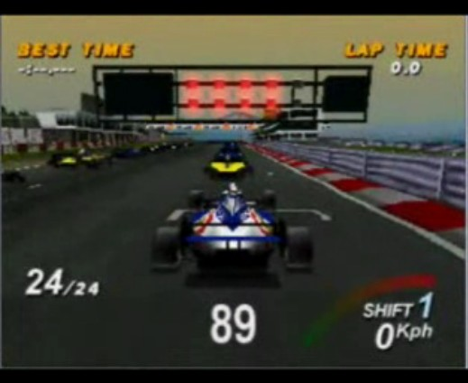 une photo d'écran de Formula One sur Sony Playstation