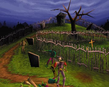 une photo d'écran de MediEvil sur Sony Playstation