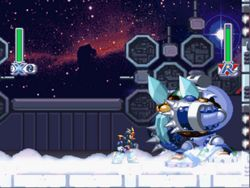 une photo d'écran de Mega Man X-4 sur Sony Playstation