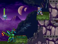 une photo d'écran de Mega Man X-6 sur Sony Playstation