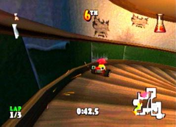 une photo d'écran de Muppet RaceMania sur Sony Playstation