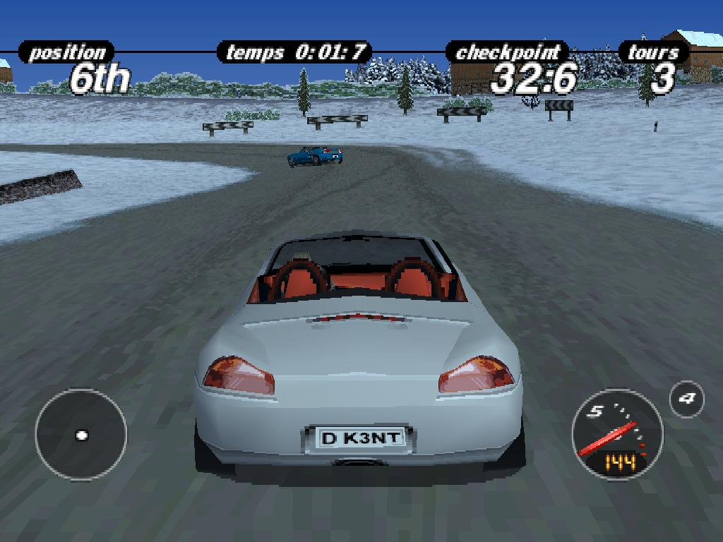 une photo d'écran de Porsche Challenge sur Sony Playstation