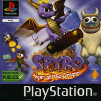 Photo de la boite de Spyro - Year of the Dragon