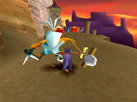 une photo d'écran de Spyro le Dragon sur Sony Playstation