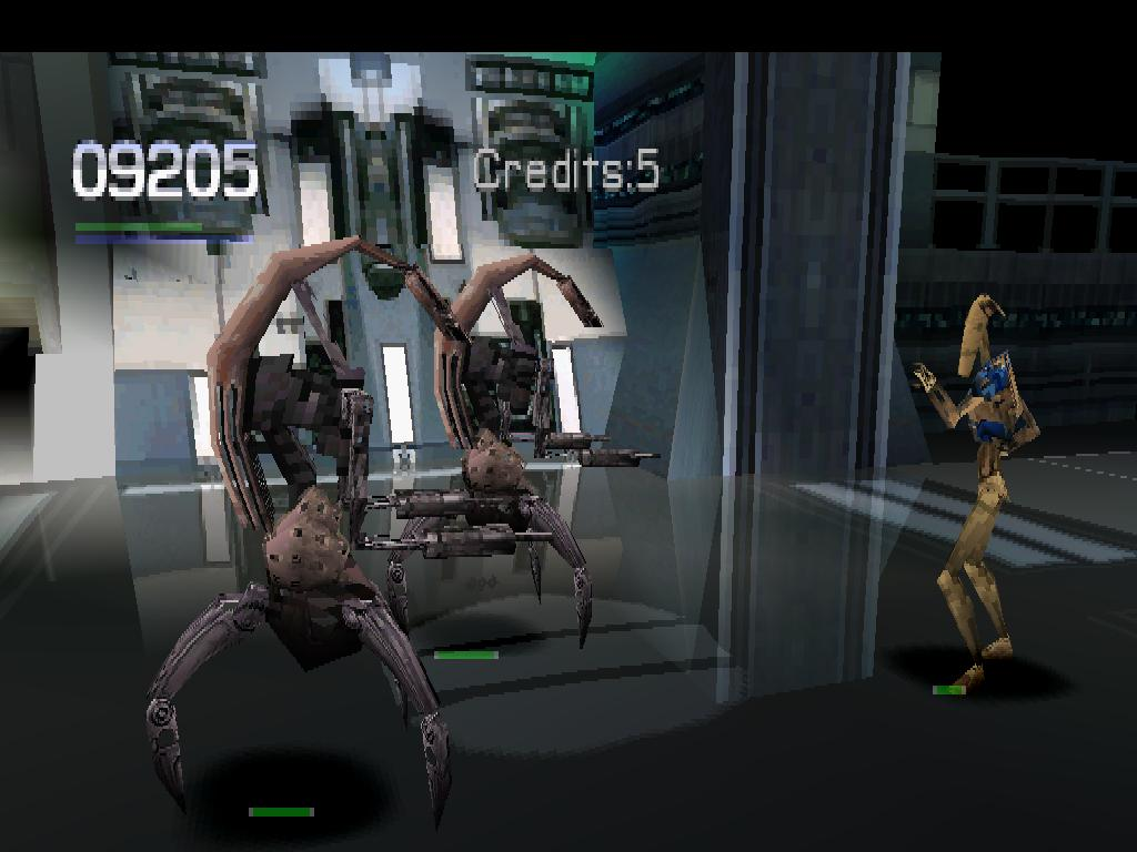 une photo d'écran de Star Wars Episode 1 - Jedi Power Battles sur Sony Playstation
