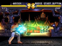 une photo d'écran de Street Fighter EX 2 Plus sur Sony Playstation