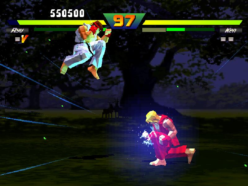 une photo d'écran de Street Fighter EX plus Alpha sur Sony Playstation