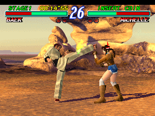 une photo d'écran de Tekken 2 sur Sony Playstation