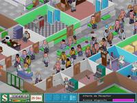 une photo d'écran de Theme Hospital sur Sony Playstation