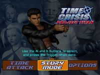 une photo d'écran de Time Crisis - Project Titan sur Sony Playstation