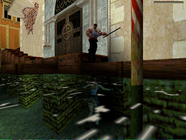 une photo d'écran de Tomb Raider 2 sur Sony Playstation