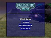 une photo d'écran de Warzone 2100 sur Sony Playstation