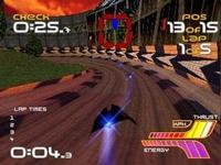 une photo d'écran de WipEout 2097 sur Sony Playstation