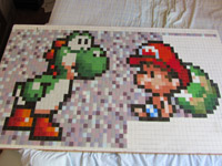 photo d'illustration pour le tutoriel:Pixel Art - Realisation d une mosaique Yoshi