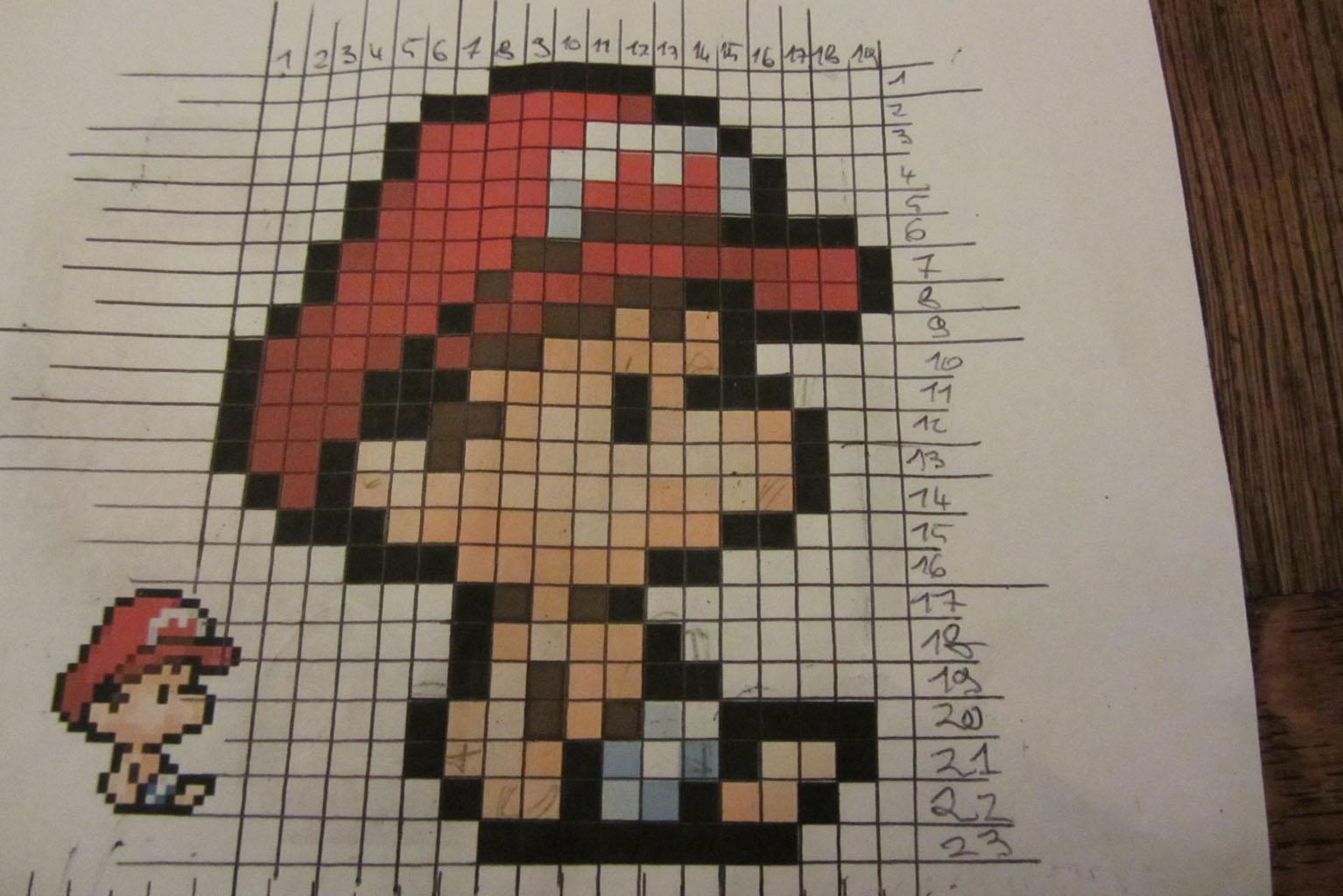 Pixel Art Réalisation D Une Mosaïque Yoshi